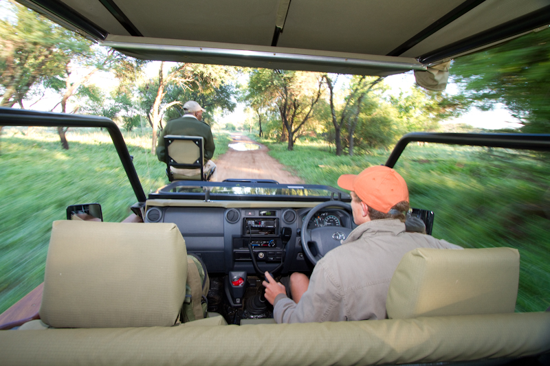 On a game drive from Mongena Game Lodge