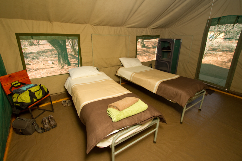 Tamboti Bush Camp is a very comfortable base.
