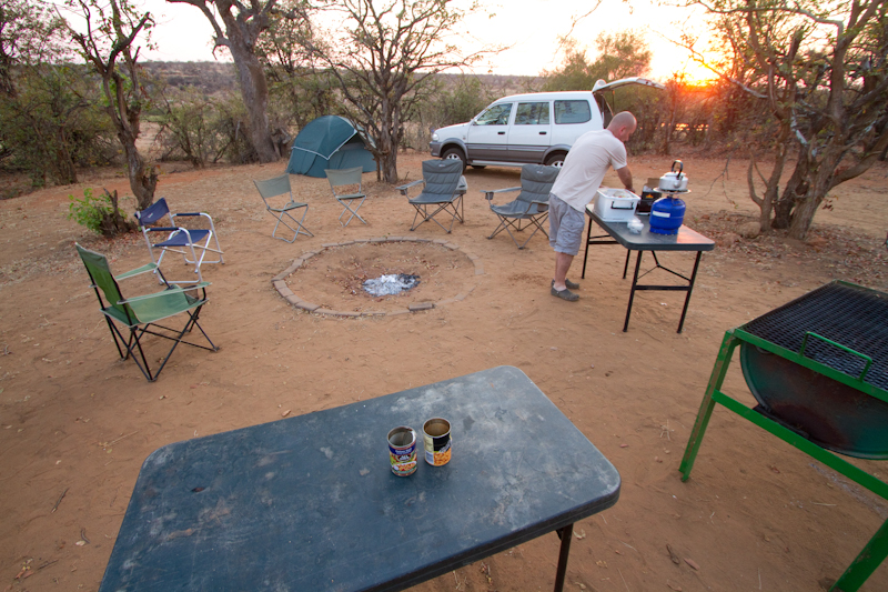 Camping next to the Letaba River