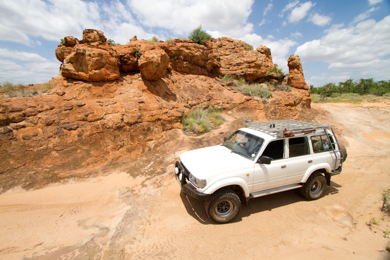 Parts of the Tshugulu 4x4 ecotrail run through stunning sandstone formations.