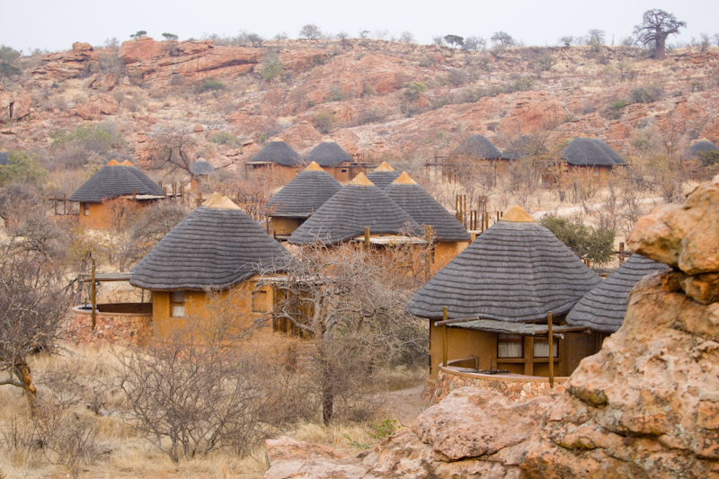 Leokwe Camp is well hidden amongst the rocks.
