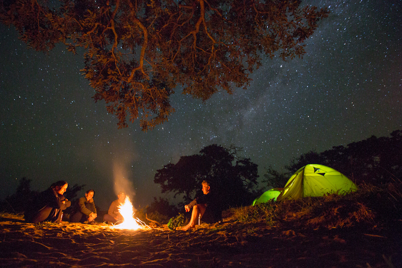 Camping under the stars in Big Five territory.