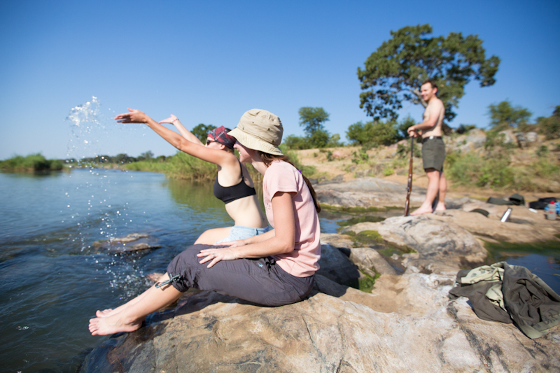 There's nothing quite as exhilarating as bathing in one of Kruger's rivers.
