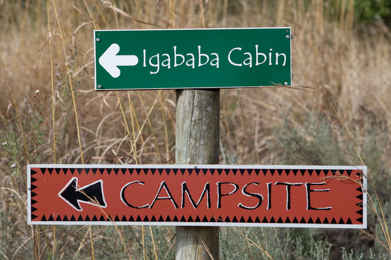 The road to Igababa Cabin is well sign-posted and off-limits to non-residents.