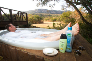 Where else can you look for crowned eagles from the comfort of a hot bath?