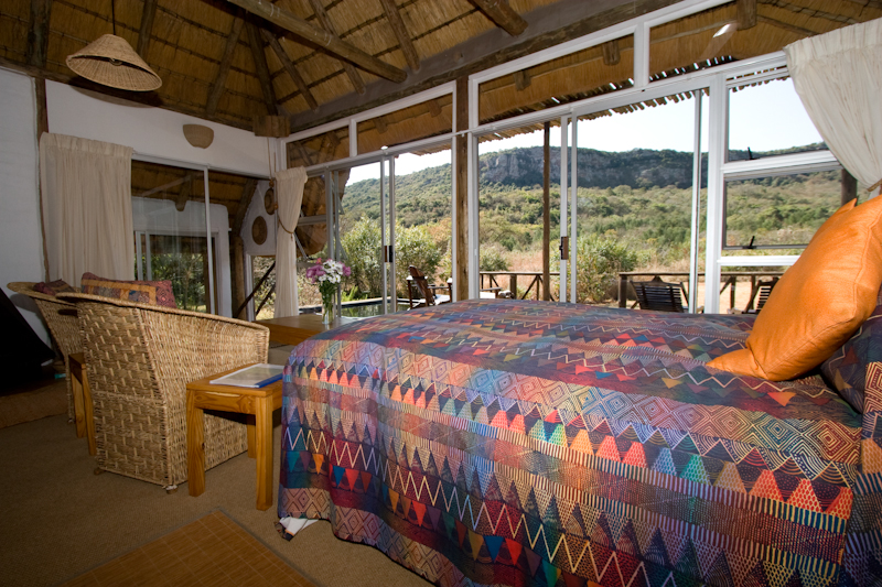 Igababa Cabin has a great view over the Soutpansberg.