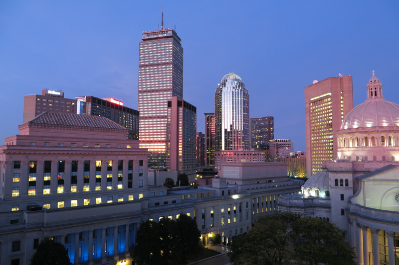 The Prudential is the tallest building in Boston and offers a great view over the city.