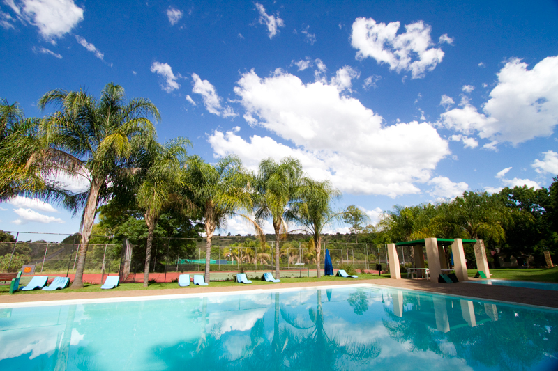 Sparkling Waters Hotel has lush gardens and a massive swimming pool.