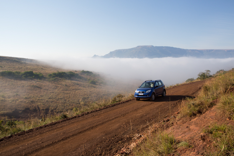 Ithala's valleys are often covered in mist until 10 am in the mornings.