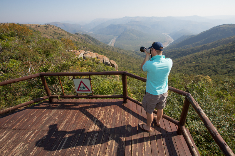 A lookout point on the Ngulubeni Loop gives you a stunning view over the Phongolo River.