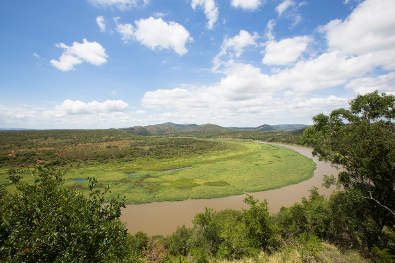 The view over the Pongola River from Inyati Lodge is one of the best in the reserve.