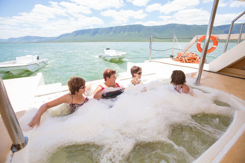 If you don't feel like fishing or game viewing, jump in the Jacuzzi!
