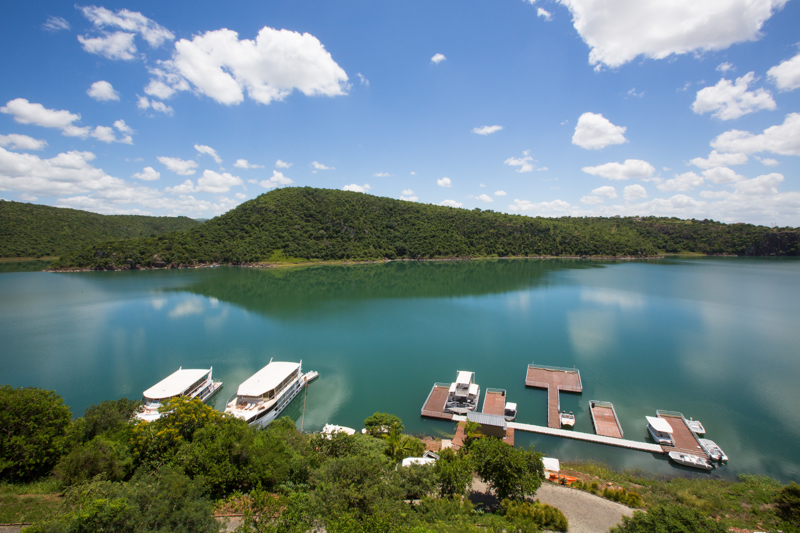 The Shayamanzi Houseboats are moored at Jozini Tiger Lodge in Jozini.
