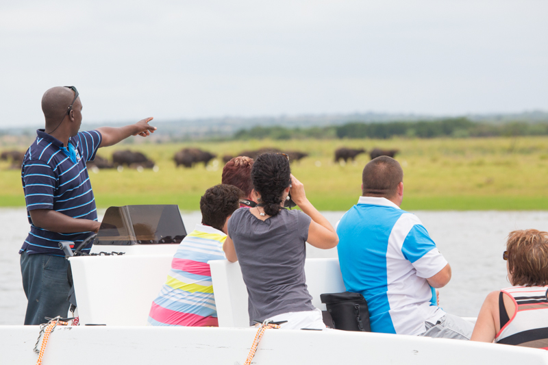 Game viewing, bird watching and fishing is done from two zippy tender boats.
