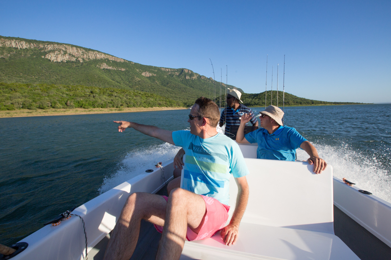 A group of friends do some game viewing en route to their favourite fishing spot.